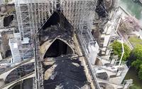 Cathédrale Notre Dame de Paris brulée