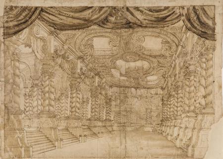 Bibiena, Décor pour l'Opéra de Nancy sous le duc Léopold, 1er quart du XVIIIe siècle